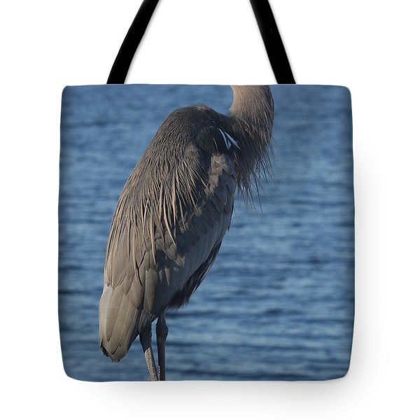 Tote Bag featuring the photograph Great Blue Heron  by Christiane Schulze Art And Photography