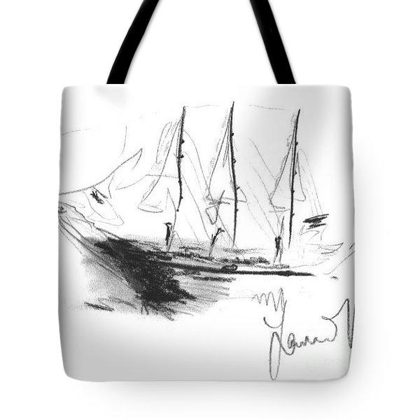 Great Men Sailing Tote Bag