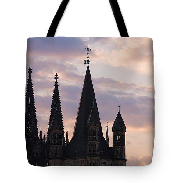 Great Saint Martin Church And Cologne Tote Bag