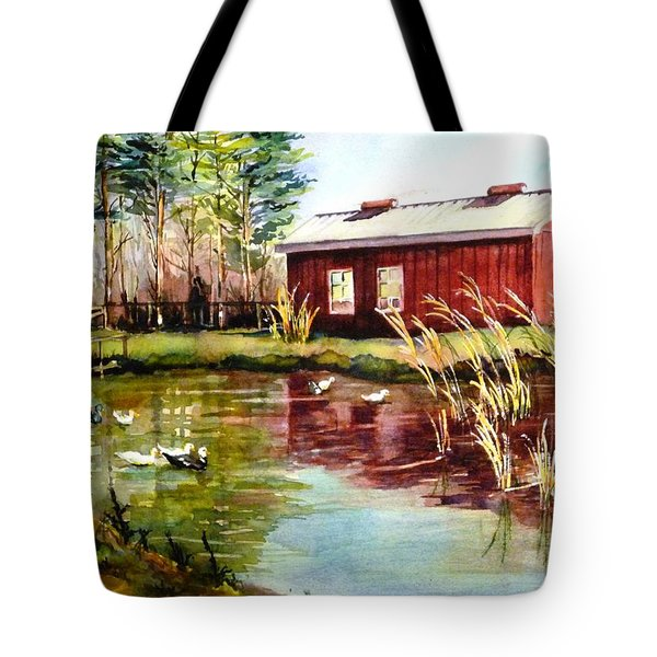 Green Acre Farm Tote Bag by Betty M M   Wong