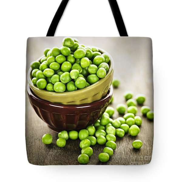 Green Peas Tote Bag by Elena Elisseeva
