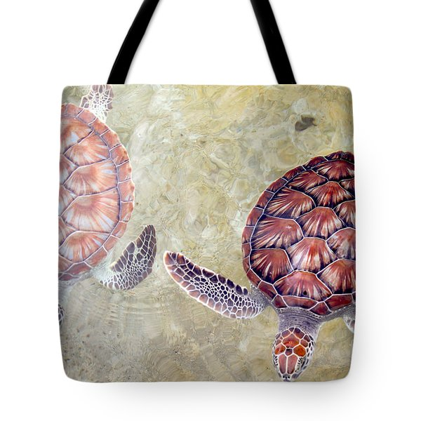 Green Turtles Tote Bag