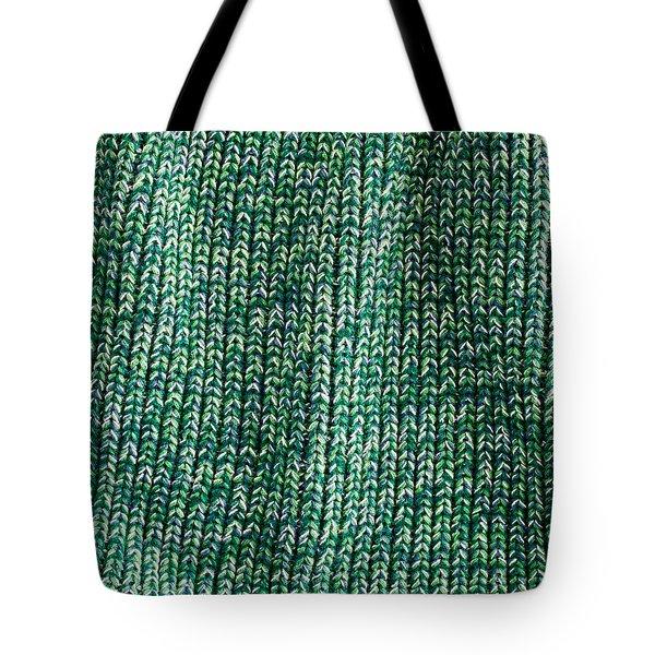 Green Wool Tote Bag by Tom Gowanlock