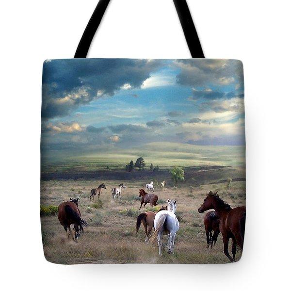 Greener Pastures Tote Bag by Bill Stephens