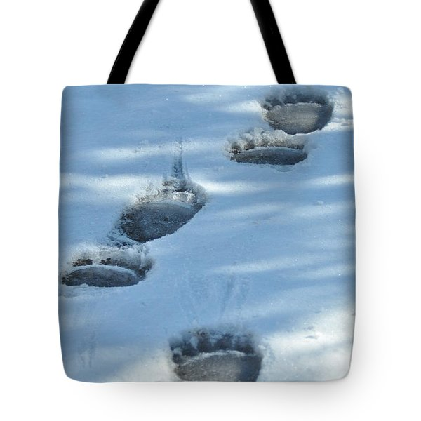 Grizzly Bear Tracks Tote Bag
