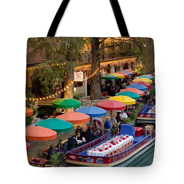 Group Of People In A Restaurant Tote Bag