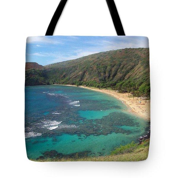 Hanauma Bay Oahu Hawaii Tote Bag