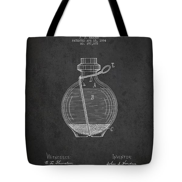 Hand Grenade Patent Drawing From 1884 Tote Bag by Aged Pixel