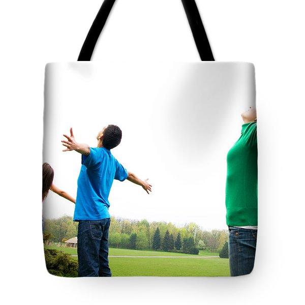 Happy Friends Tote Bag by Michal Bednarek