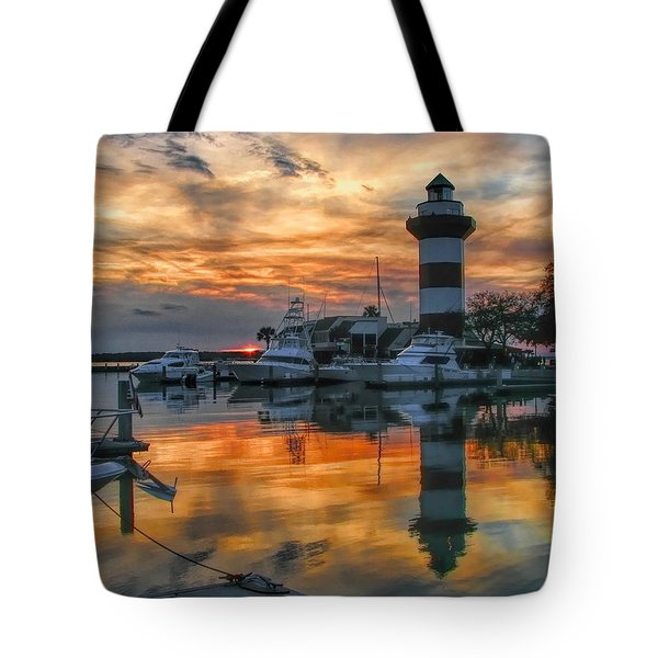 Harbour Town Sunset Tote Bag