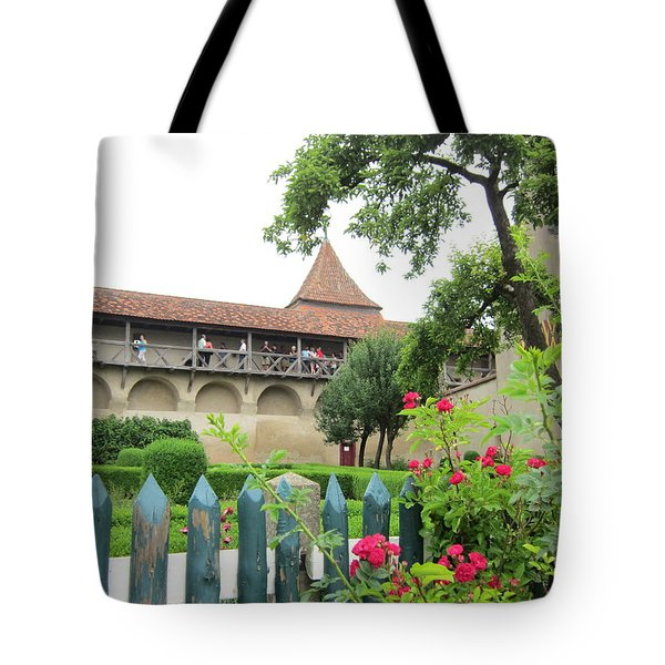Harburg Castle Tote Bag by Pema Hou