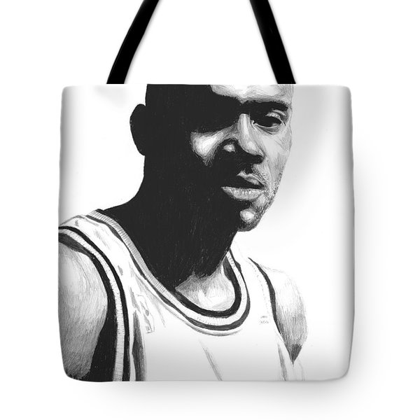 Tote Bag featuring the drawing Hardaway by Tamir Barkan