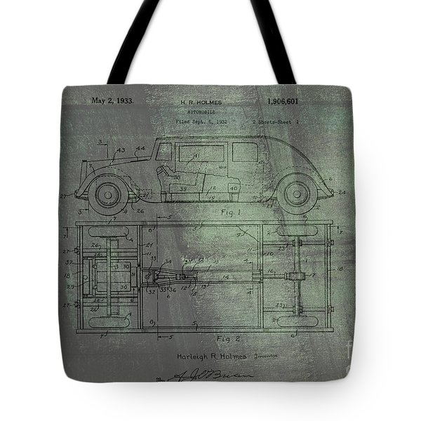 Harleigh Holmes Original Automobile Patent  Tote Bag
