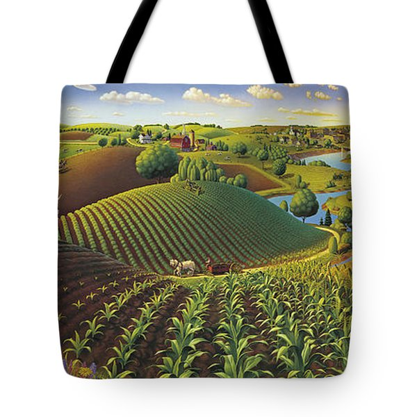Harvest Panorama  Tote Bag