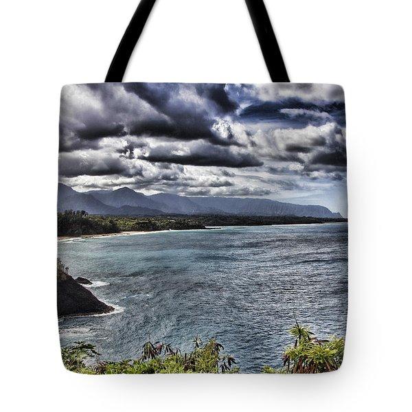 Hawaii Big Island Coastline V2 Tote Bag by Douglas Barnard