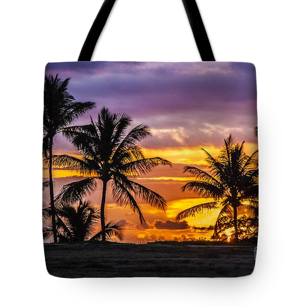 Hawaiian Sunset Tote Bag by Juli Scalzi