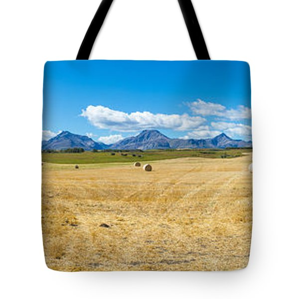 Hay Bales In A Field With Canadian Tote Bag