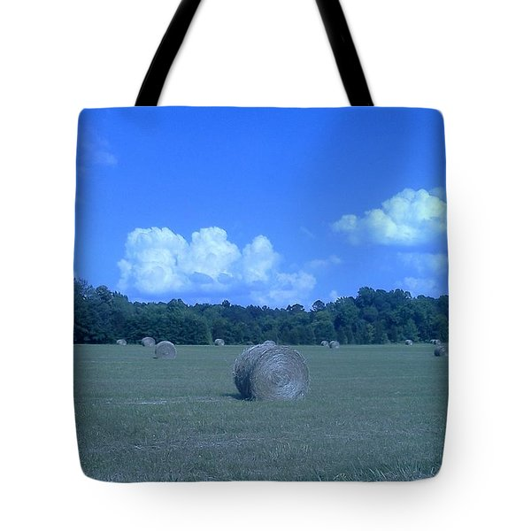 Haystacks Tote Bag by Stacy C Bottoms
