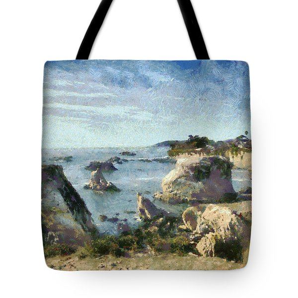 Hazy Lazy Day Pismo Beach California Tote Bag by Barbara Snyder