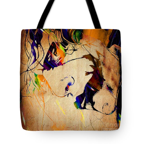 Heath Ledger The Joker Collection Tote Bag by Marvin Blaine