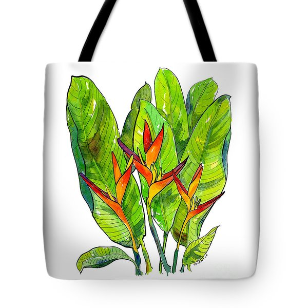 Heliconia Tote Bag by Diane Thornton