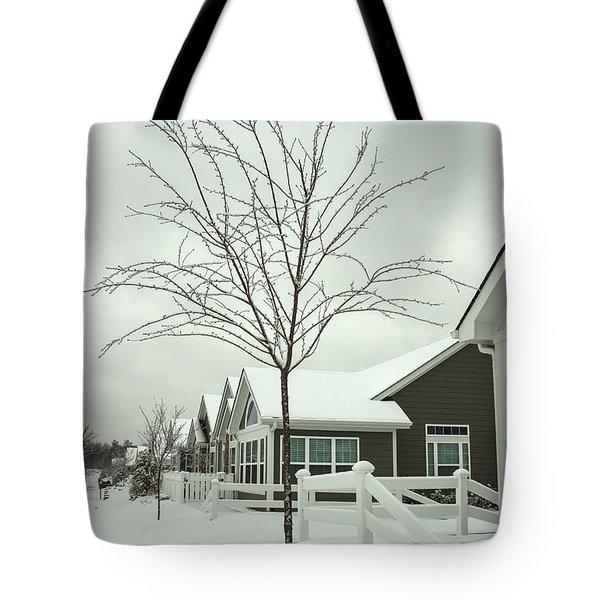 Hello Snow Tote Bag by Roberta Byram