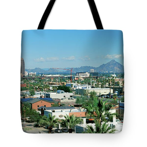 High Angle View Of A City, Phoenix Tote Bag