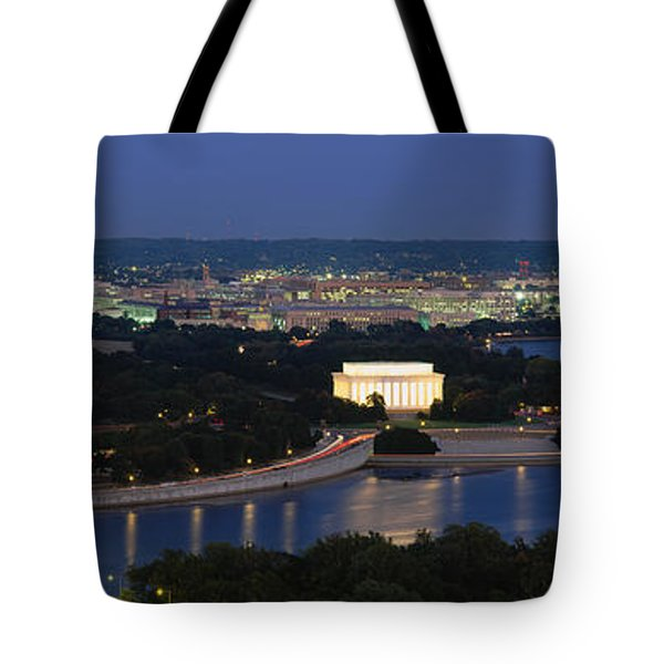 High Angle View Of A City, Washington Tote Bag