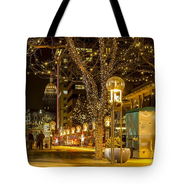 Holiday Lights In Denver Colorado Tote Bag