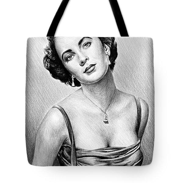 Hollywood Greats  Elizabeth Taylor Tote Bag