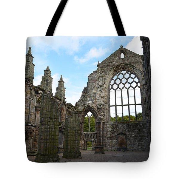 Holyrood Abbey Ruins Tote Bag by DejaVu Designs