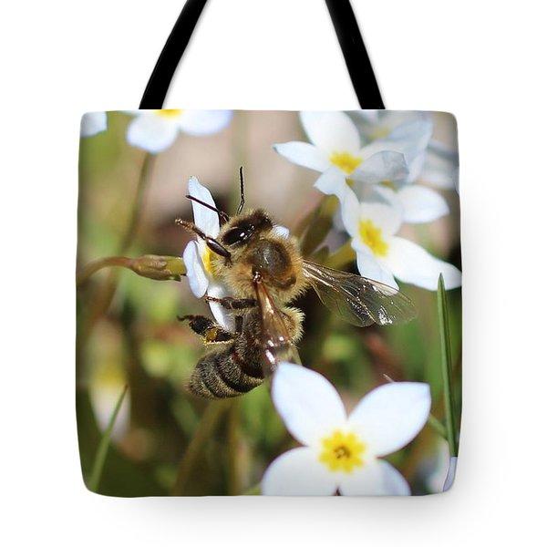 Honeybee On Bluet Tote Bag