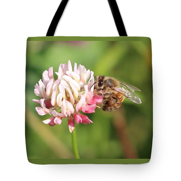 Honeybee On Clover Tote Bag by Lucinda VanVleck