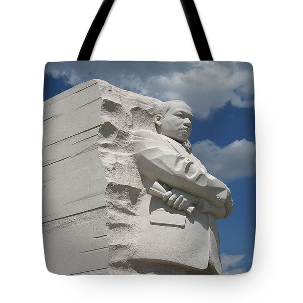 Tote Bag featuring the photograph Honoring Martin Luther King by Cora Wandel