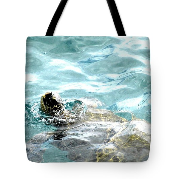 Kamakahonu, The Eye Of The Honu  Tote Bag by Lehua Pekelo-Stearns