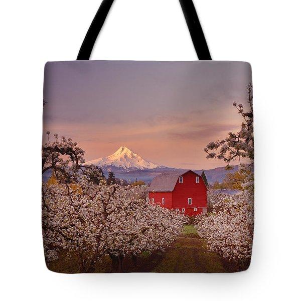 Hood River Sunrise Tote Bag