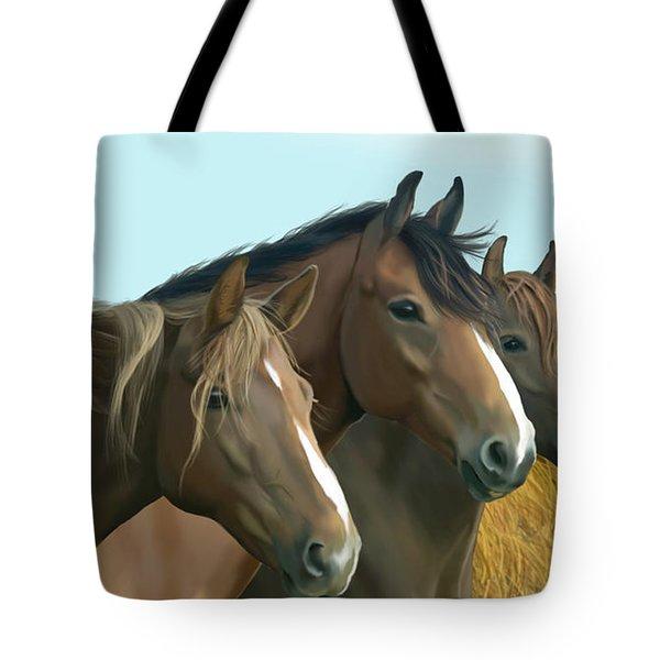 Hope Of The Mustangs Tote Bag by Kate Black