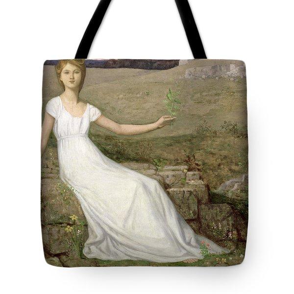 Hope Tote Bag by Pierre Puvis de Chavannes