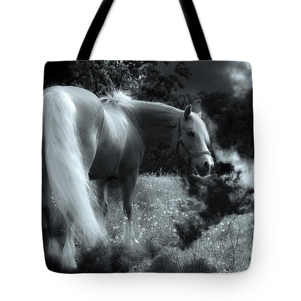 Horse Tote Bag by Christine Sponchia