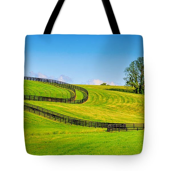 Horse Farm Fences Tote Bag