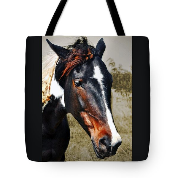 Tote Bag featuring the photograph Horse by Savannah Gibbs