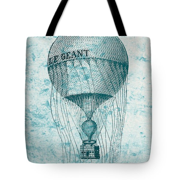 Hot Air Balloon - Retro Design Tote Bag