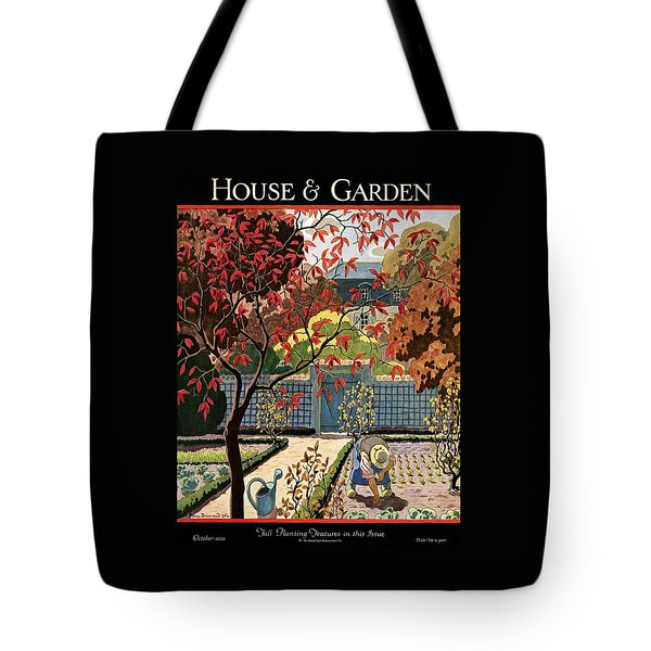 House And Garden Fall Planting Number Cover Tote Bag