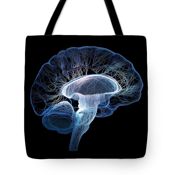 Human Brain Complexity Tote Bag