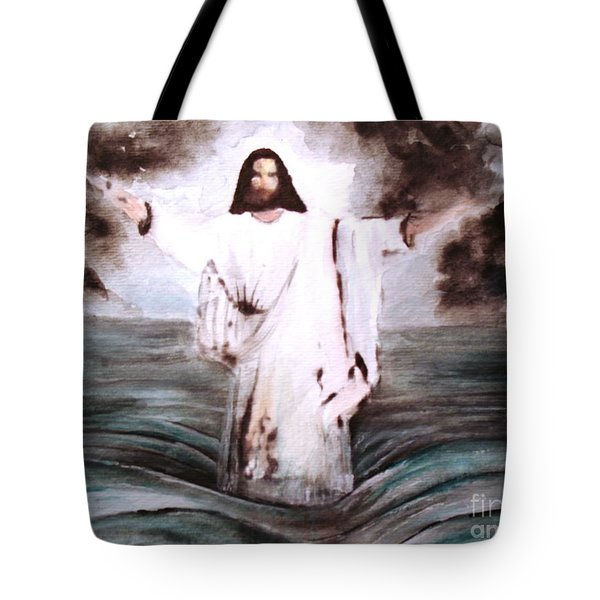 Tote Bag featuring the painting I Am by Hazel Holland