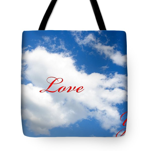 1 I Love You Heart Cloud Tote Bag