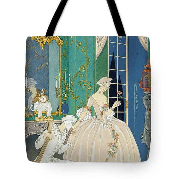 Illustration For 'fetes Galantes' Tote Bag by Georges Barbier