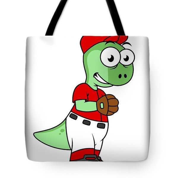 Illustration Of A Pachycephalosaurus Tote Bag by Stocktrek Images