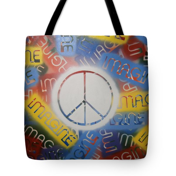 Imagine Peace Tote Bag by Drew Shourd