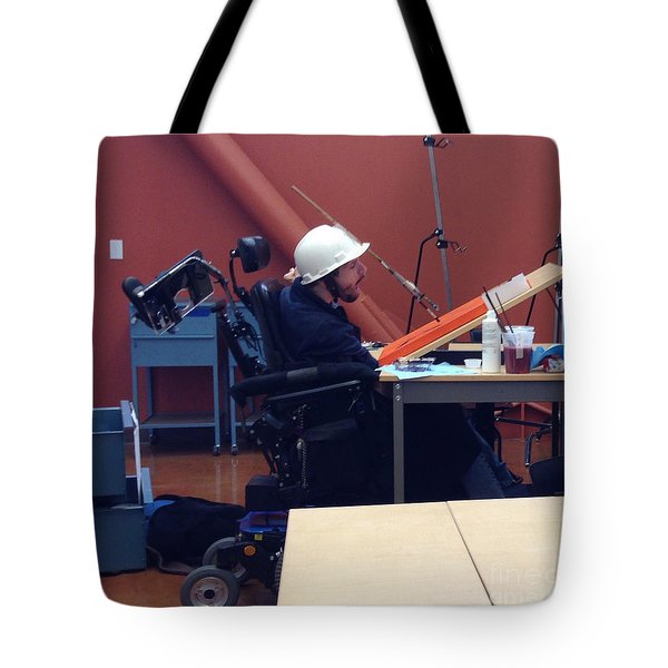 Tote Bag featuring the photograph In Studio by Donald J Ryker III